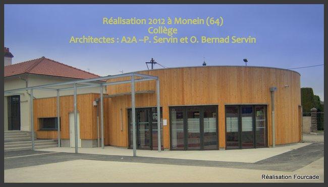 Fourcade Collège bois  Monein 64