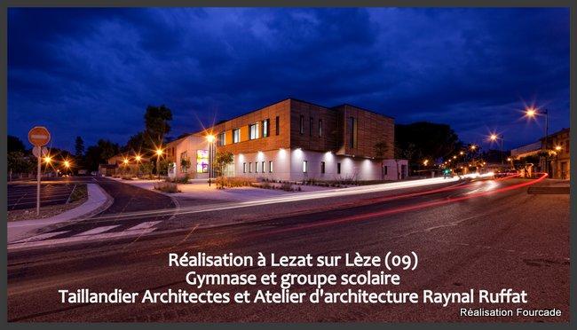 Fourcade Gymnase et groupe scolaire bois Lezat sur Lèze 09