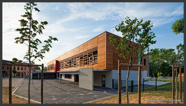 Fourcade Gymnase et groupe scolaire bois  bois  Lezat sur Lèze 09 (6)