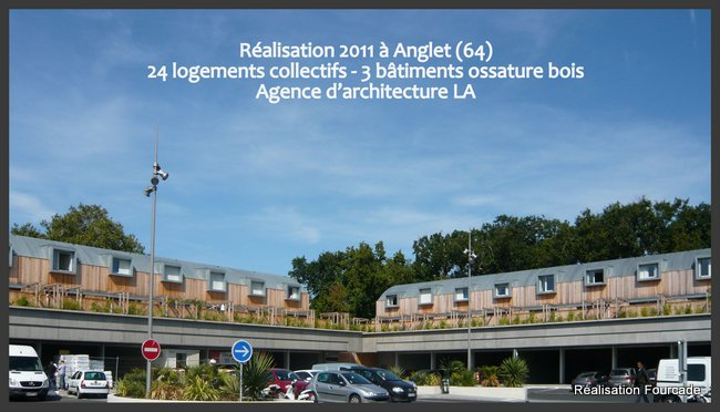 Fourcade Logements collectifs  bois Anglet 64