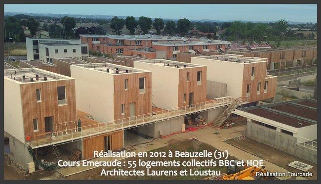 Fourcade Logements collectifs  bois Cours Emeraude Beauzelle 31