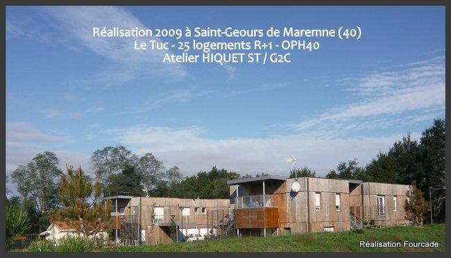 Fourcade Logements collectifs  bois Saint-Geours de Maremne 40