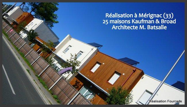 Fourcade Maisons bois  Kaufman et Broad Mérignac 33