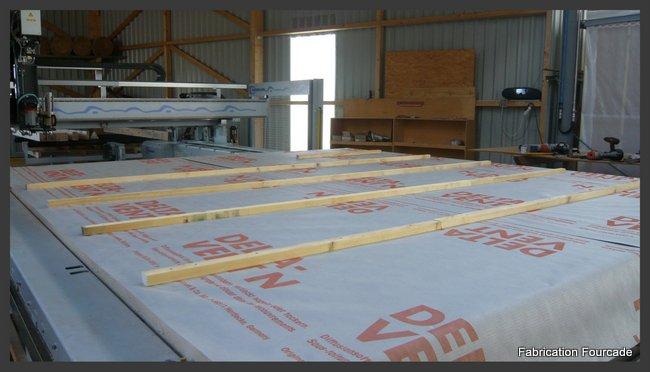 Fourcade charpentes : murs ossature bois pré-fabrication en atelier