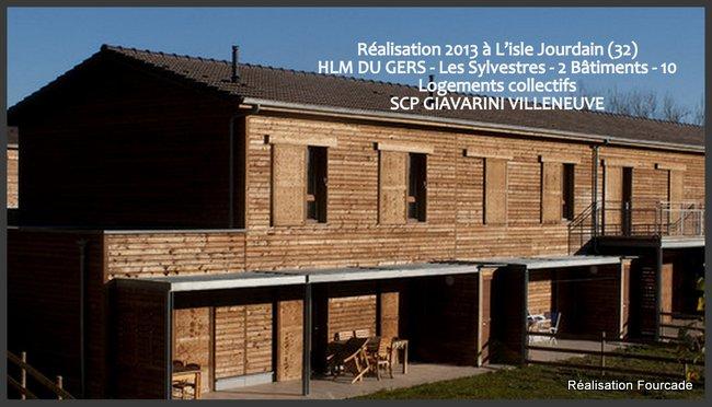 Construction bois HLM les Sylvestres dans le Gers (32) - Fourcade