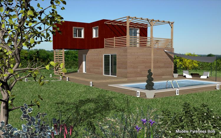 Mod le bassia pyr n es bois maisons ossature bois 64 - Maison modulaire bois ...