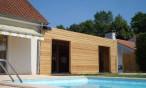 Extension bois à Odos, près de Tarbes (Hautes Pyrénées, 65)