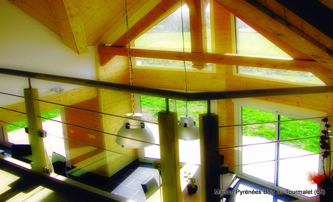 Maison bois en montagne soulom hautes pyr n es 65 pyr n es bois maisons ossature bois 64 for Construction maison en bois hautes pyrenees