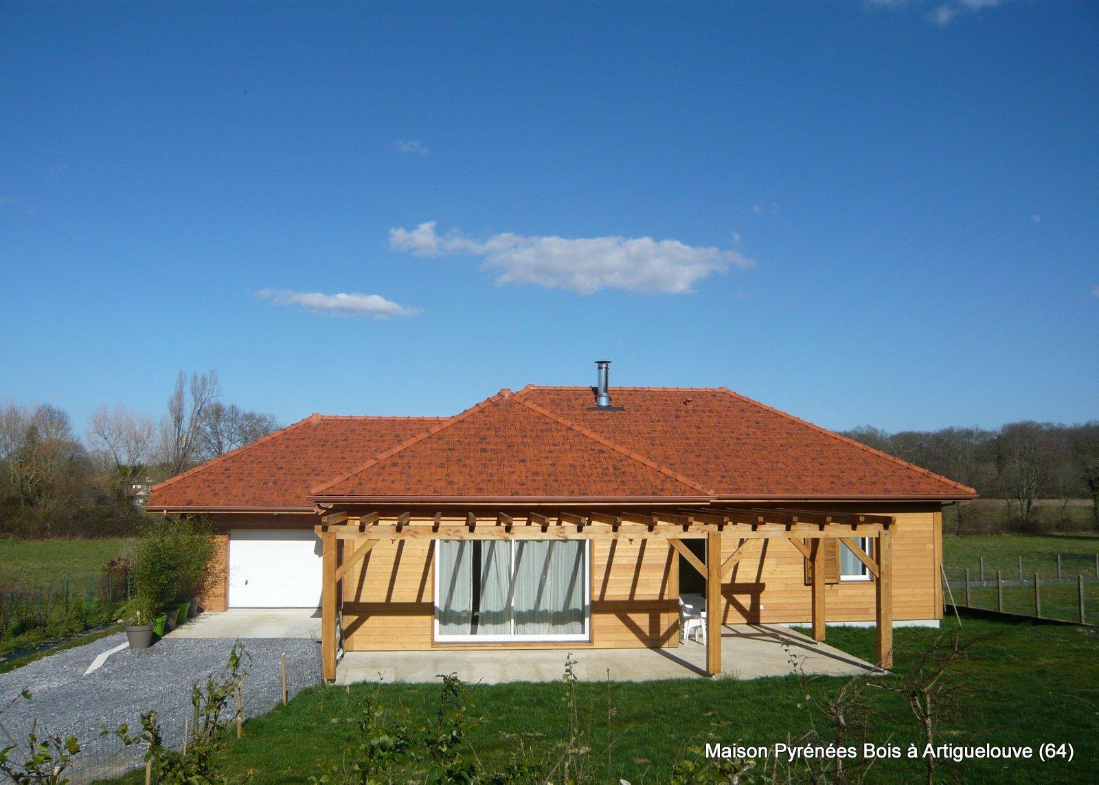 Maison Pyrénées Bois à Artiguelouve, près de Pau (Pyrénées Atlantiques, 64)