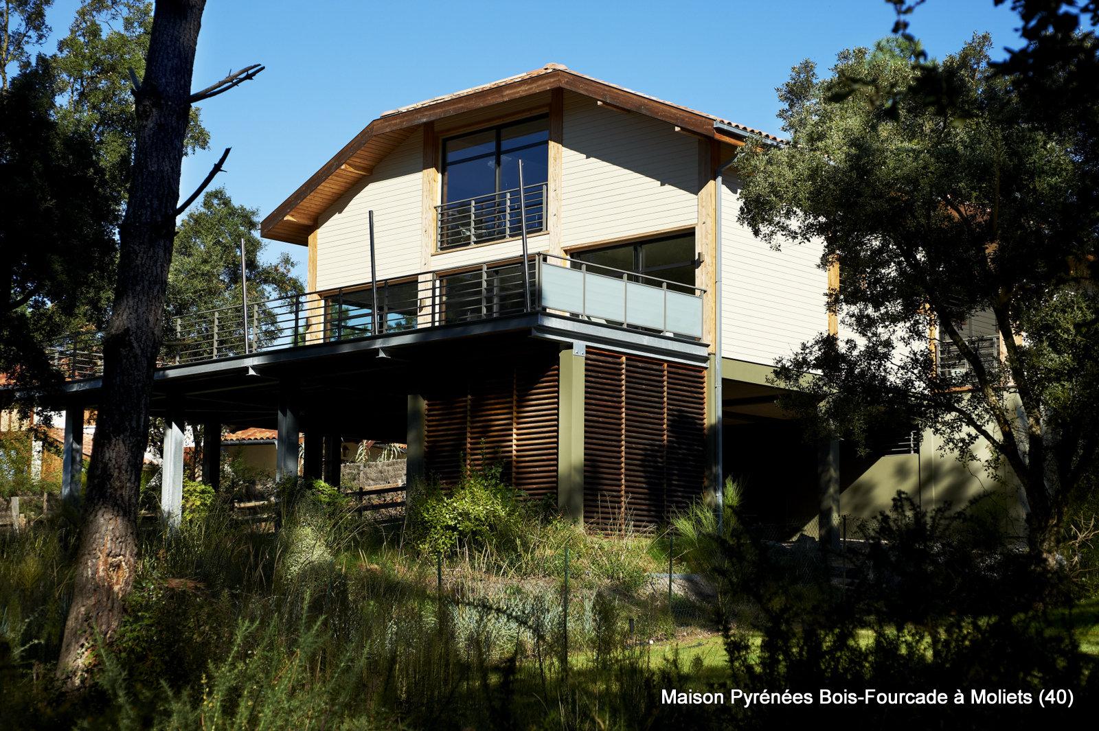 Maison bois d'architecte à Moliets (Landes, 40)