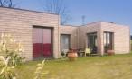 Maison toit terrasse en bois près d'Orthez (Pyrénées Atlantiques, 64)
