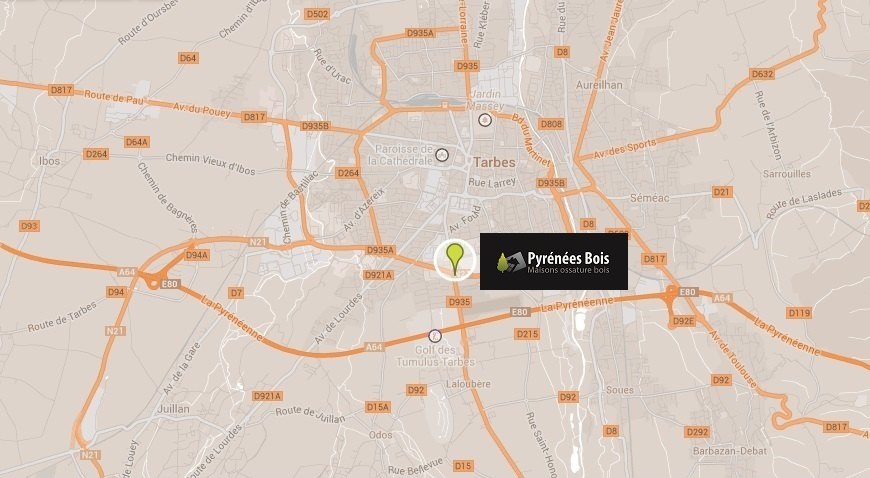 Plan Pyrénées Bois à Tarbes