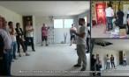 Maison bois près de Pau : des visiteurs nombreux pour assister au blower door test