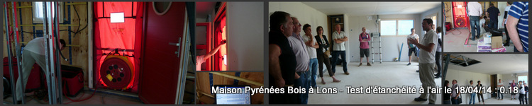 Construction maison bois rt 2012 test d tanch it for Bureau de tabac lons 64