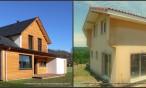 Maisons en bois avec enduit