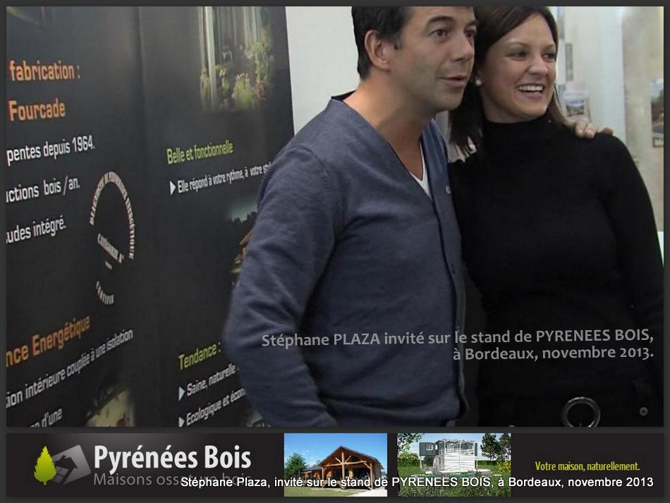 L'animateur TV Stéphane Plaza était invité sur le stand de PYRENEES BOIS, au salon Vivons Maison, à Bordeaux.