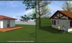 Projets de maisons bois à Ahetze et saint Pée sur Nivelle, dans le Pays Basque (64) : murs ossature bois enduits à la chaux.