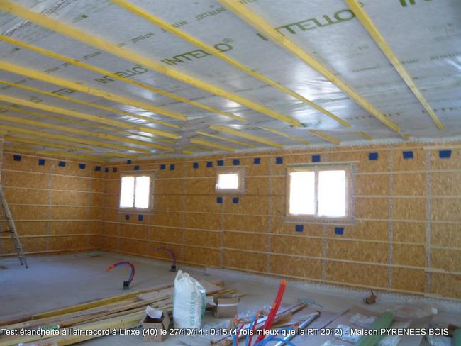 Maison bois Linxe (Landes, 40) : haute performance proche maison passive pour le constructeur Pyrenees Bois