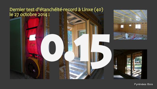 Maison bois Landes : test à l'air-record pour le constructeur Pyrénées Bois