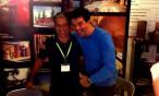 Stéphane PLAZA sur le stand PYRENEES BOIS au salon de la maison à Tarbes - oct 2014
