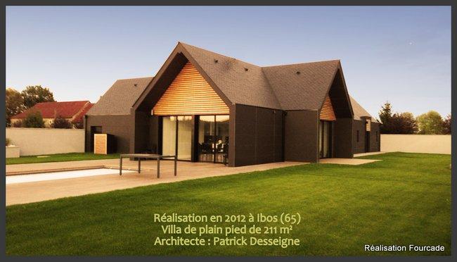 maison bois architecte plain pied dans les pyrnes 65