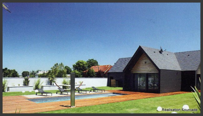 maison bois 65 : fibre-ciment ethernit et bardage bois