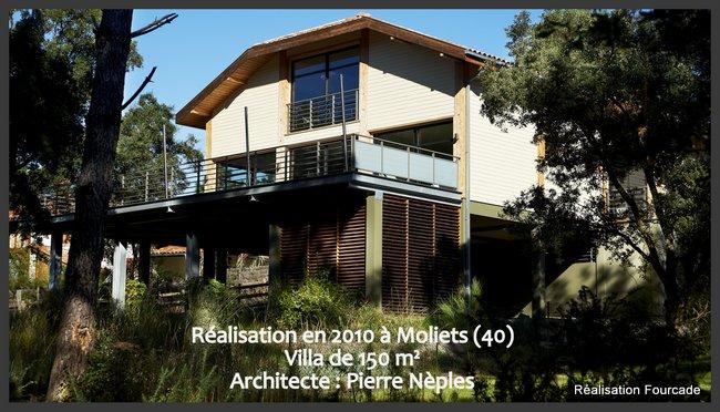 Villa en bois - architecture landaise contemporaine