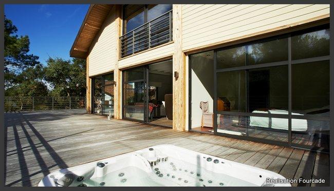 Maison bois Landes: luminosité et volume