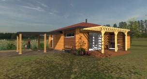 Maison bois contemporaine plain pied 3 chambres 110000 € par Pyrénées Bois