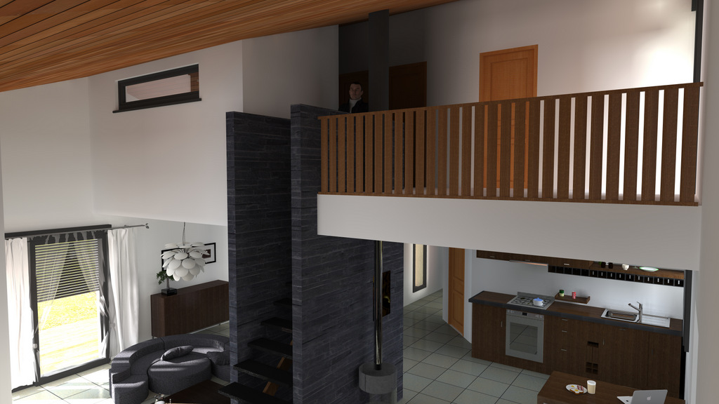 maison bois contemporaine pyr n es bois maisons. Black Bedroom Furniture Sets. Home Design Ideas