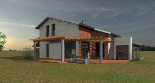 Maison bois architecture design dans le Gers (32)