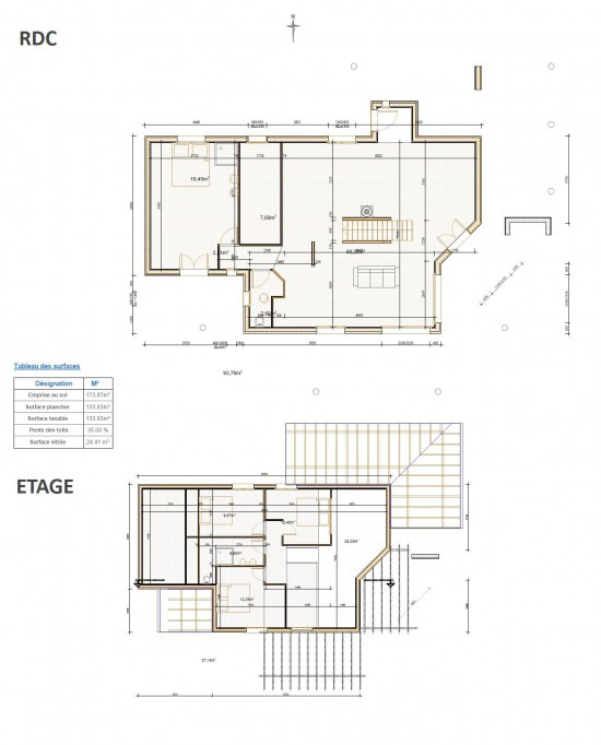Plan maison bois contemporaine design Gers 32