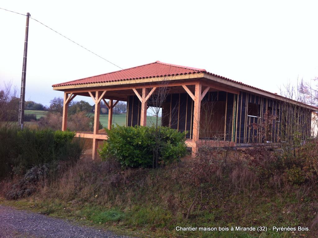 Maison bois en construction (Gers, 32)