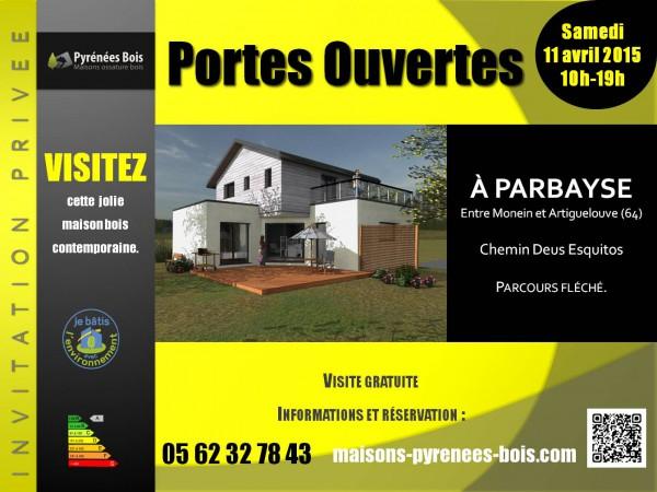 Maison bois contemporaine Béarn à visiter (64)