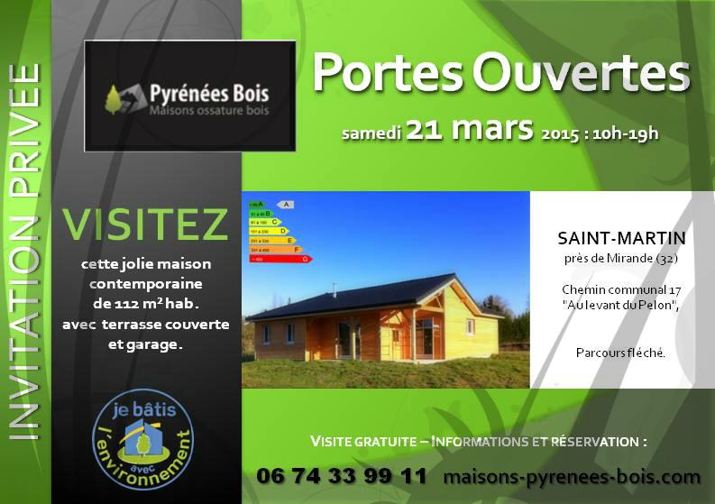 Maison Bois : Portes-Ouvertes près de Mirande dans le Gers (32) - Une construction PYRENEES BOIS