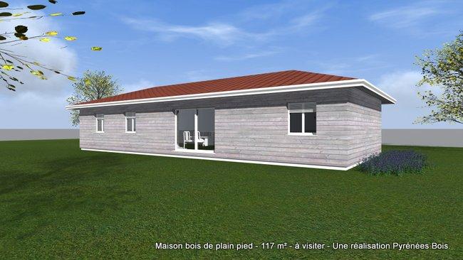 Maison bois visiter en bigorre 65 pyr n es bois for Constructeur de maison hautes pyrenees